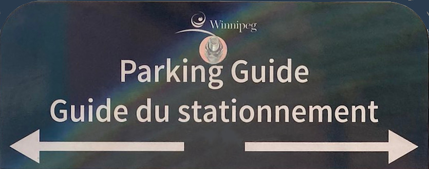 parking guide sign top