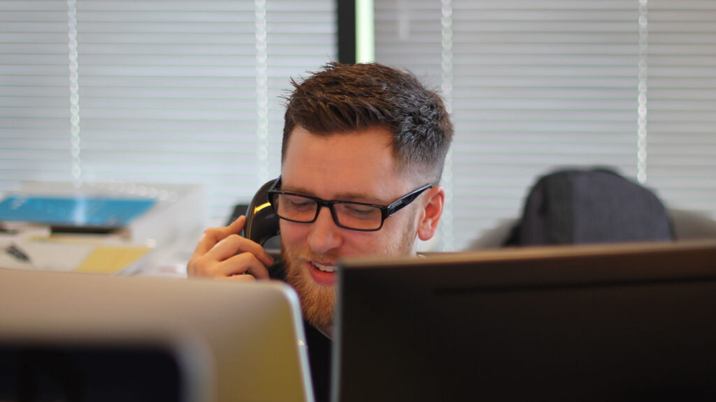 modern earth - stock photo of a tech on a call, sorry.