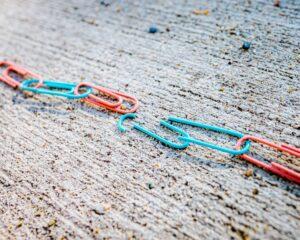 broken chain links